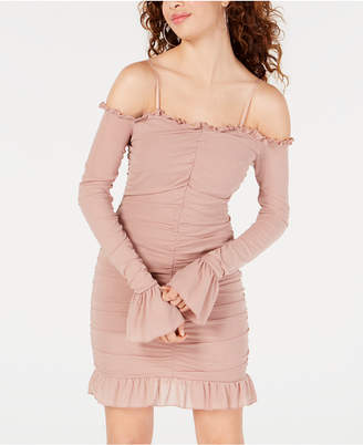 938cf0e120dbc Material Girl Juniors  Off-The-Shoulder Ruched Dress
