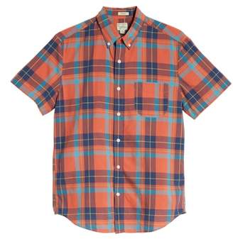 J.Crew Regular Fit Madras Plaid Sport Shirt