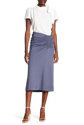 Gibson Ruched Ponte Midi Skirt