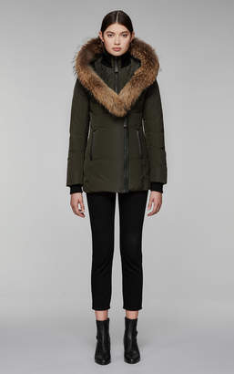 Mackage ADALI fitted winter down coat with hood and fur trim