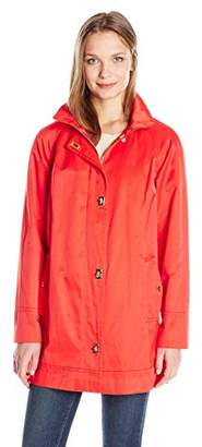 Jones New York Women's Water Repellent A-Line Rain Jacket with Turnkey Closures $59.20 thestylecure.com