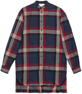 Gucci Check wool oversize shirt
