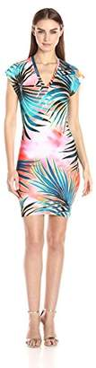 Just Cavalli Women's Tie Dye Palm Print Dress