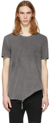 The Viridi-anne Grey Asymmetric T-Shirt