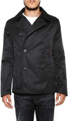 Prada Linea Rossa Nylon Gabardine Pea Coat