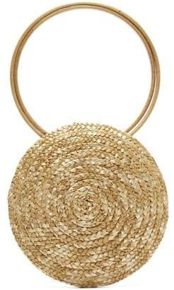 Eliurpi - Circle Mini Woven Straw Bag - Womens - Cream
