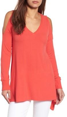 Women's Caslon Cold Shoulder Tunic $42 thestylecure.com