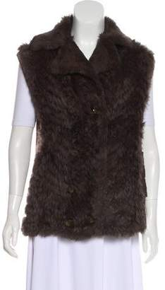 Marc by Marc Jacobs Fur Button-Up Vest