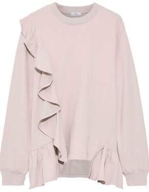 Clu Ruffled French Cotton-terry Sweatshirt