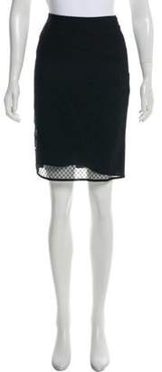 Christian Dior Knit Knee-Length Skirt Black Knit Knee-Length Skirt