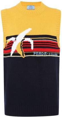 Prada Intarsia wool sweater vest