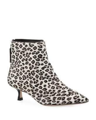 Stuart Weitzman Juniper Leopard Ankle Bootie