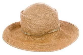 Jennifer Ouellette Woven Wide-Brim Hat