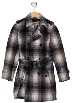 Burberry Girls' Exploded Check Coat