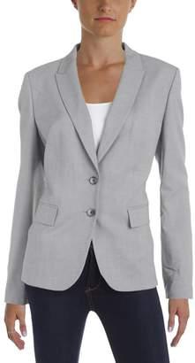 HUGO BOSS Womens Jimelana Heathered 2 Button Blazer Gray