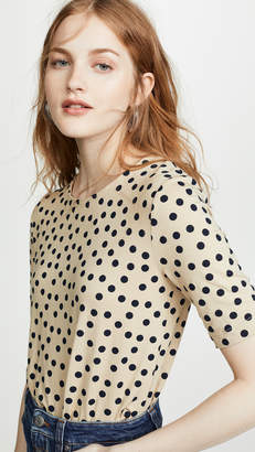 Three Dots Spring Dot Crop Top