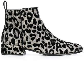 Dolce & Gabbana leopard ankle boots