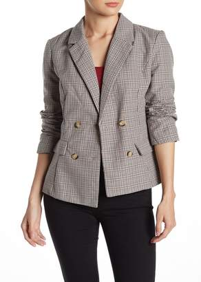Wild Honey Plaid Double-Breasted Blazer