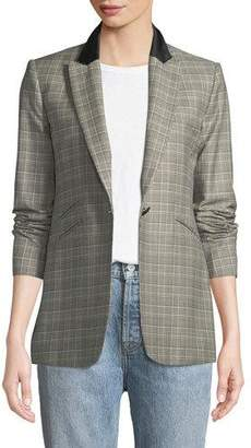 Rag & Bone Ridley Peak-Lapel One-Button Plaid Blazer