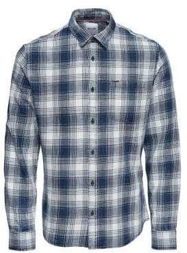 ONLY & SONS Plaid Button-Down Shirt