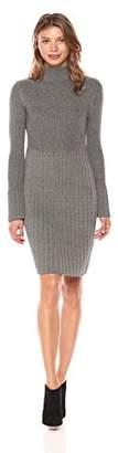 Adrianna Papell Women's Turtle Neck Slim Sweater Dress