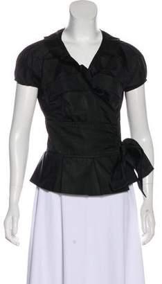 Diane von Furstenberg Silk Wrap Blouse