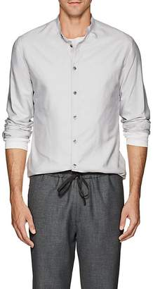 Giorgio Armani Men's Silk Shantung Band Collar Shirt