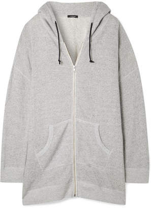 R 13 Oversized Cotton-terry Hoodie - Stone