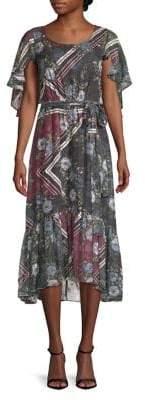 Taylor Printed Tie-Waist Dress