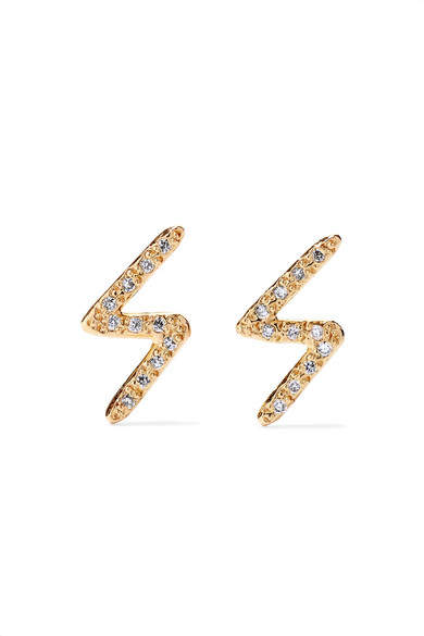 Melissa Joy Manning - 14-karat Gold Diamond Earrings