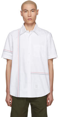 Thom Browne White Stripe Oxford Shirt