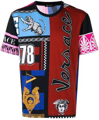 Versace multi-pattern T-shirt