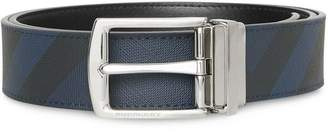 Burberry Reversible London Check and Leather Belt