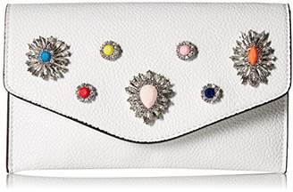 Steve Madden Crown Non Leather Multi Colored Jewels and Rhinestones Clutch Crossbody