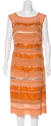 Bottega Veneta Embellished Midi Dress