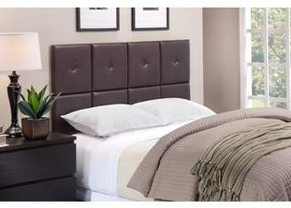 Generic Foremost Tessa Espresso PU Tiled Headboard with Tuft, Multiple Sizes
