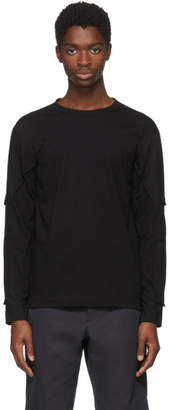 Comme des Garcons Black Long Sleeve Padding T-Shirt