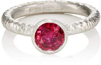 Malcolm Betts Women's Ruby & Platinum Ring - Silver