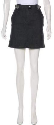 Philosophy di Alberta Ferretti Denim Metallic Skirt