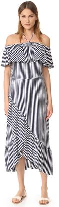MDS Stripes Gracie Ruffle Dress $275 thestylecure.com