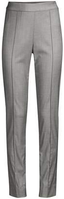 St. John Shark Skin Stretch Wool Suiting Pants