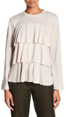David Lerner Layered Ruffle Top