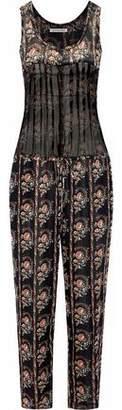 Etoile Isabel Marant Pleated Printed Silk-Georgette Jumpsuit