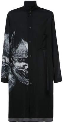 Yohji Yamamoto printed longline shirt