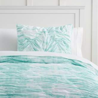 Pottery Barn Teen Whimsical Waves Comforter, Full/Queen, Pale Seafoam Tie-Dye