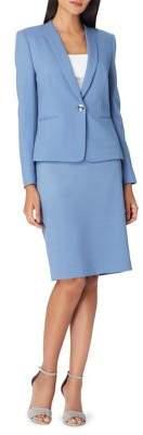 Tahari Arthur S. Levine Shawl Collar Jacket and Skirt Suit