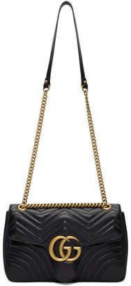 Gucci Black Medium GG Marmont 2.0 Bag