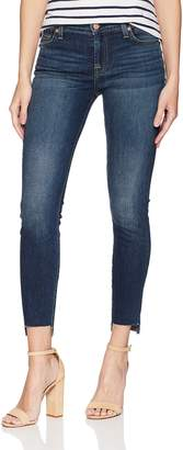 7 For All Mankind Women's Ankle Gwenevere Skinny Jean with Step Hem Pants