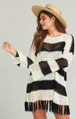 Show Me Your Mumu Paula Fringe Pullover ~ Cruise Stripe