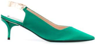 No.21 slingback mid heel pumps